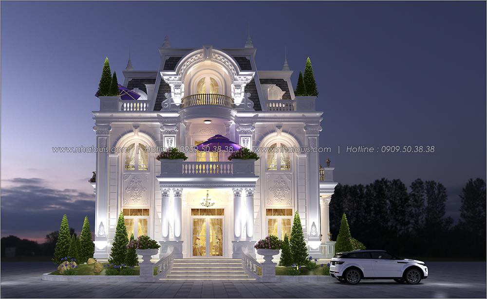Thiết kế biệt thự có tầng hầm tại Bình Dương kiểu Pháp cao 2 tầng - 02