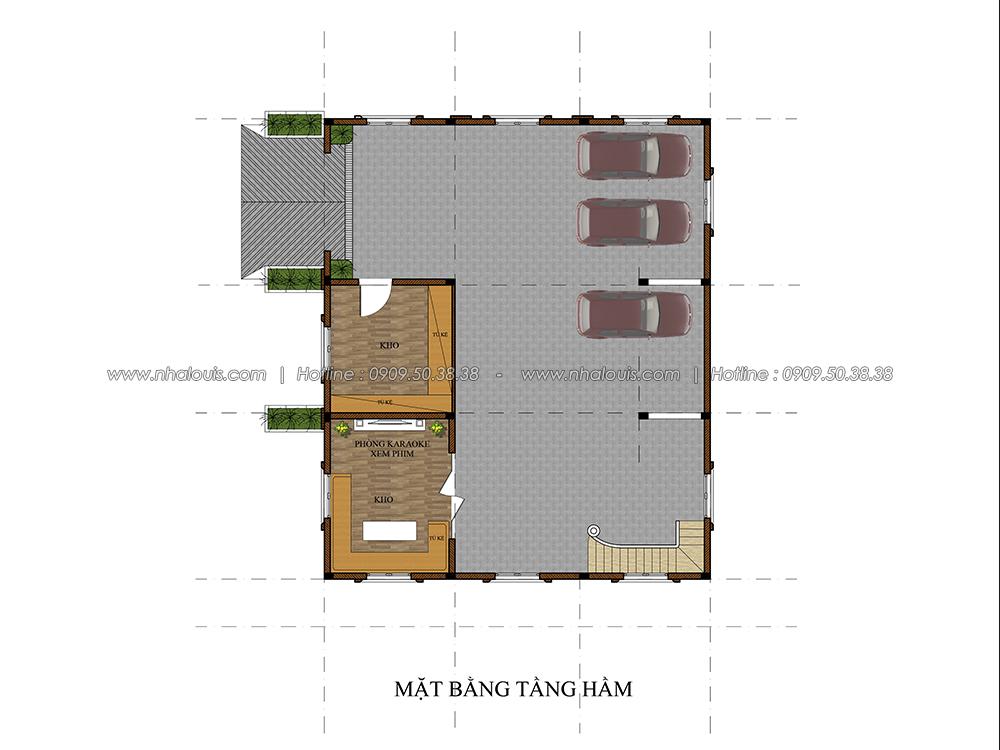 Thiết kế biệt thự có tầng hầm tại Bình Dương kiểu Pháp cao 2 tầng - 03