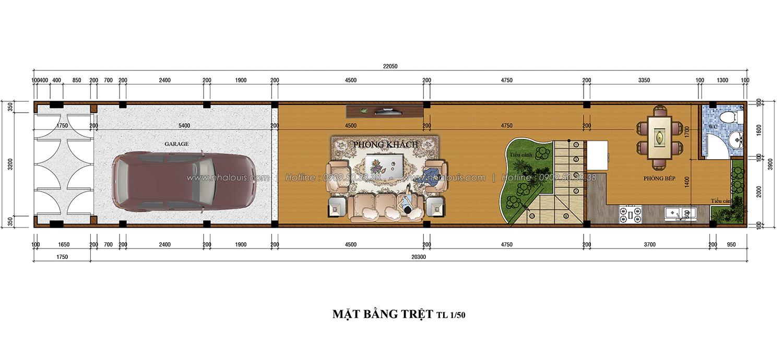 Thiết kế nhà phố 3 tầng tại Tân Bình đẹp hiện đại và đầy phong cách - 02