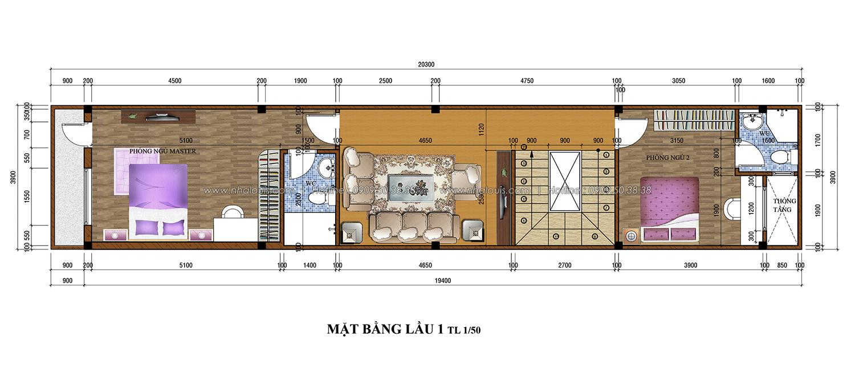 Thiết kế nhà phố 3 tầng tại Tân Bình đẹp hiện đại và đầy phong cách - 03