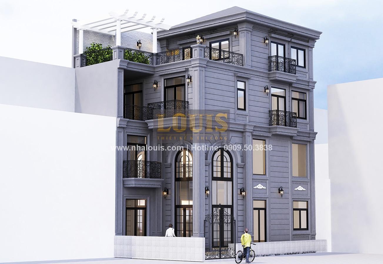 Thiết kế nhà phố bán cổ điển tại Quận 4 với gu màu lạ mắt kịp xu hướng - 01
