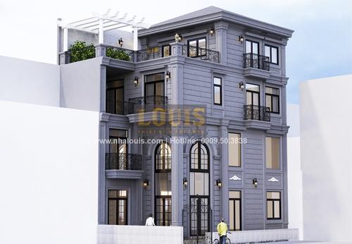 Thiết kế nhà phố bán cổ điển tại Quận 4 với gu màu lạ mắt kịp xu hướng