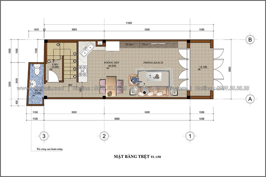 Thiết kế nhà phố đẹp 3 tầng tại quận 10 với nội thất hiện đại sang trọng - 02