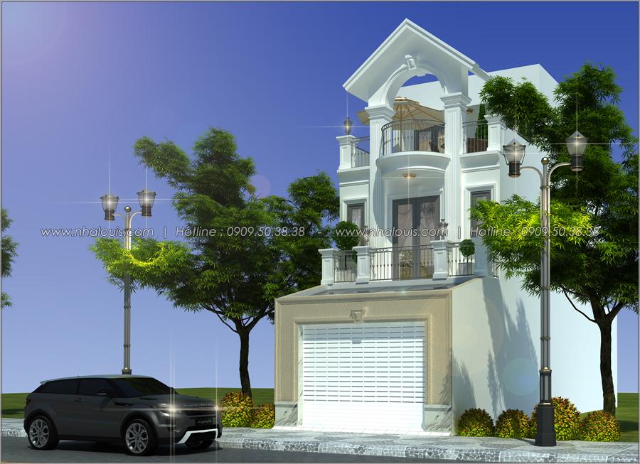 Thiết kế nhà tân cổ điển 2 tầng tại Bình Dương đẹp sửng sốt - 01