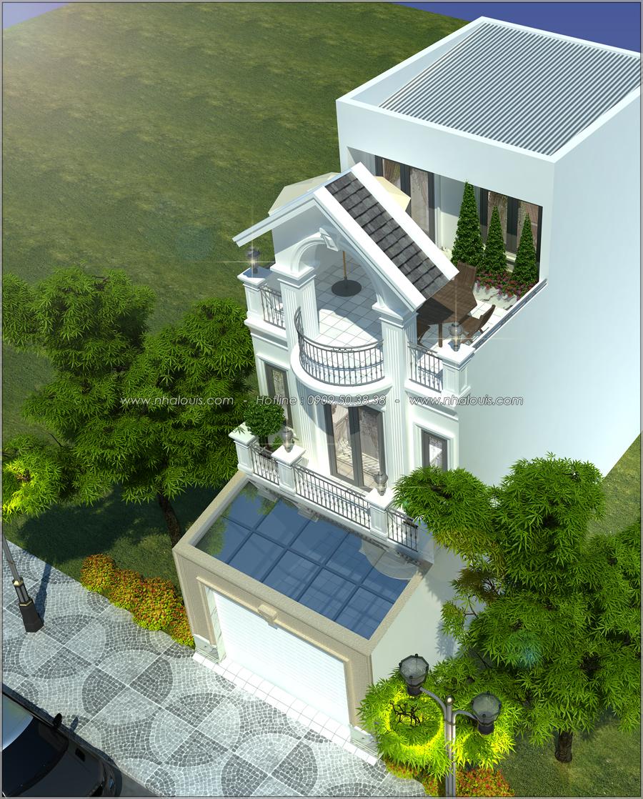 Thiết kế nhà tân cổ điển 2 tầng tại Bình Dương đẹp sửng sốt - 02