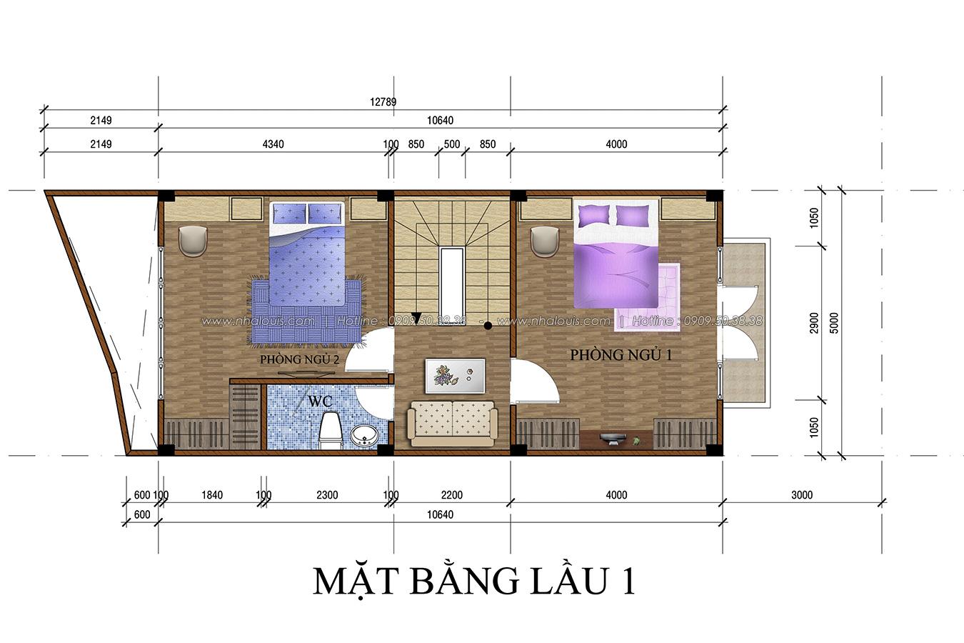 Thiết kế nhà tân cổ điển 2 tầng tại Bình Dương đẹp sửng sốt - 10