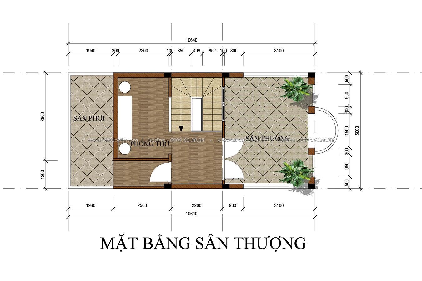 Thiết kế nhà tân cổ điển 2 tầng tại Bình Dương đẹp sửng sốt - 16