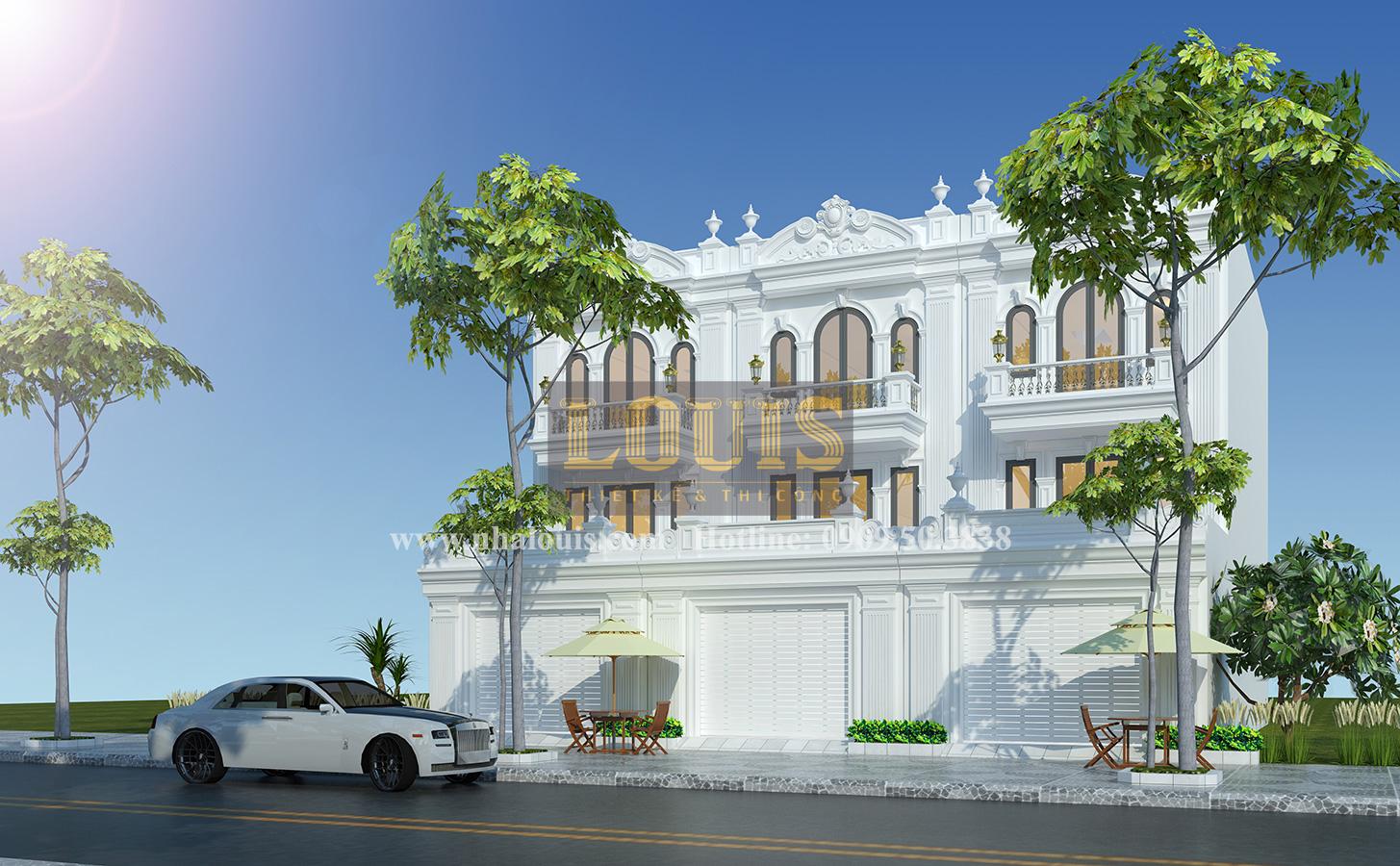 Tư vấn thiết kế mẫu nhà liền kề ở Bình Dương theo phong cách cổ điển - 01