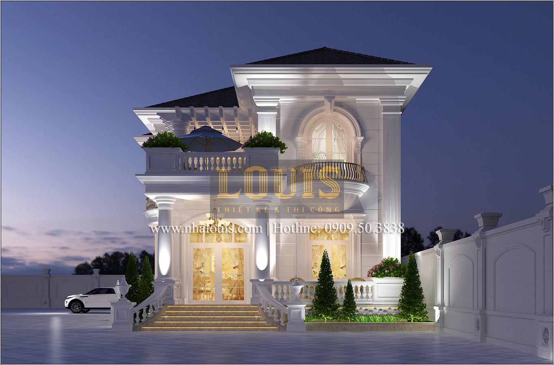 Biệt thự cổ điển 2 tầng tại Bình Dương đẹp sang chảnh độc đáo - 01