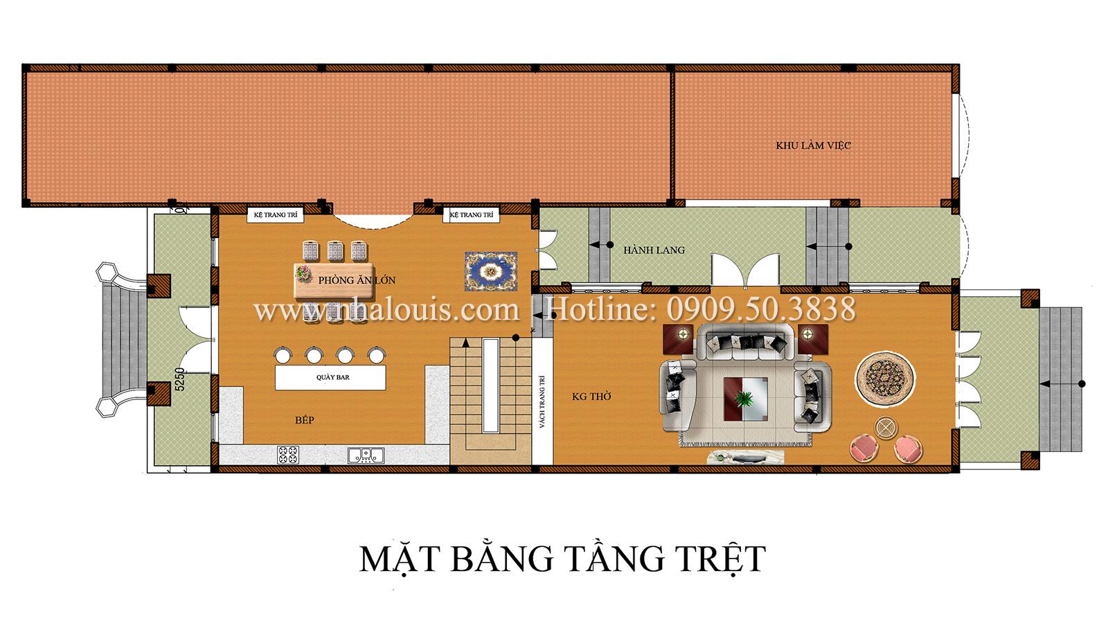 Biệt thự cổ điển kết hợp kinh doanh hoành tráng tại Đồng Nai - 05