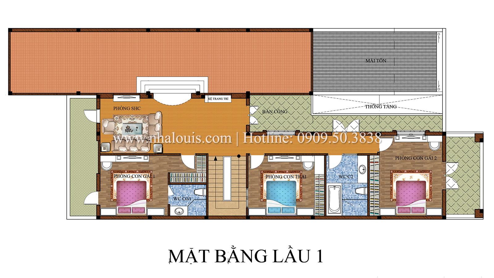 Biệt thự cổ điển kết hợp kinh doanh hoành tráng tại Đồng Nai - 17