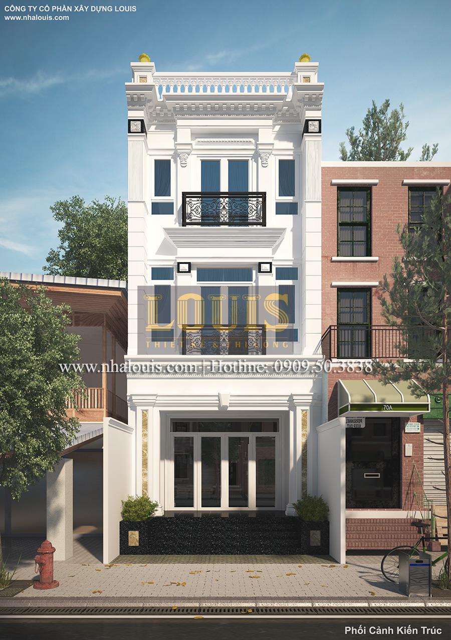 Ngôi nhà phố ở Quận 7 theo xu hướng mới với kiến trúc tân cổ điển - 01