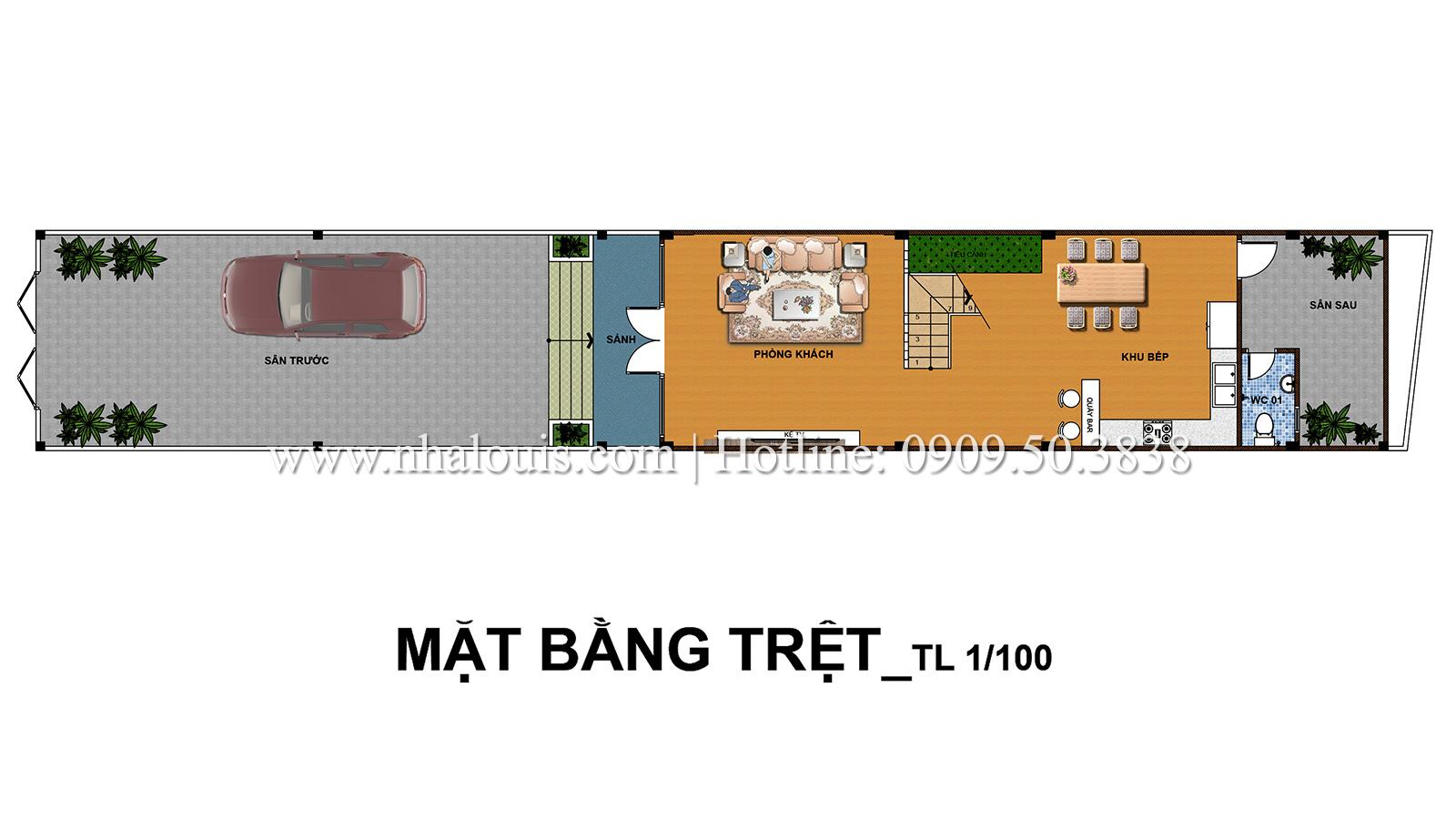 Ngôi nhà phố ở Quận 7 theo xu hướng mới với kiến trúc tân cổ điển - 02