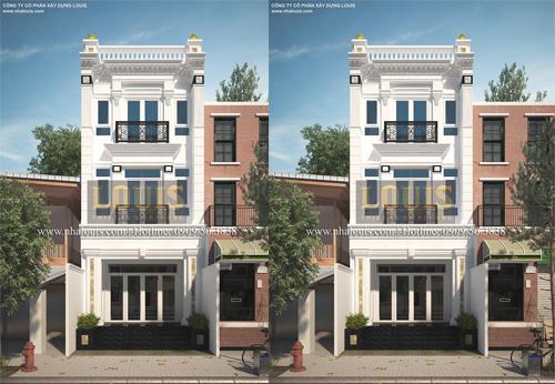 Ngôi nhà phố ở Quận 7 theo xu hướng mới với kiến trúc tân cổ điển