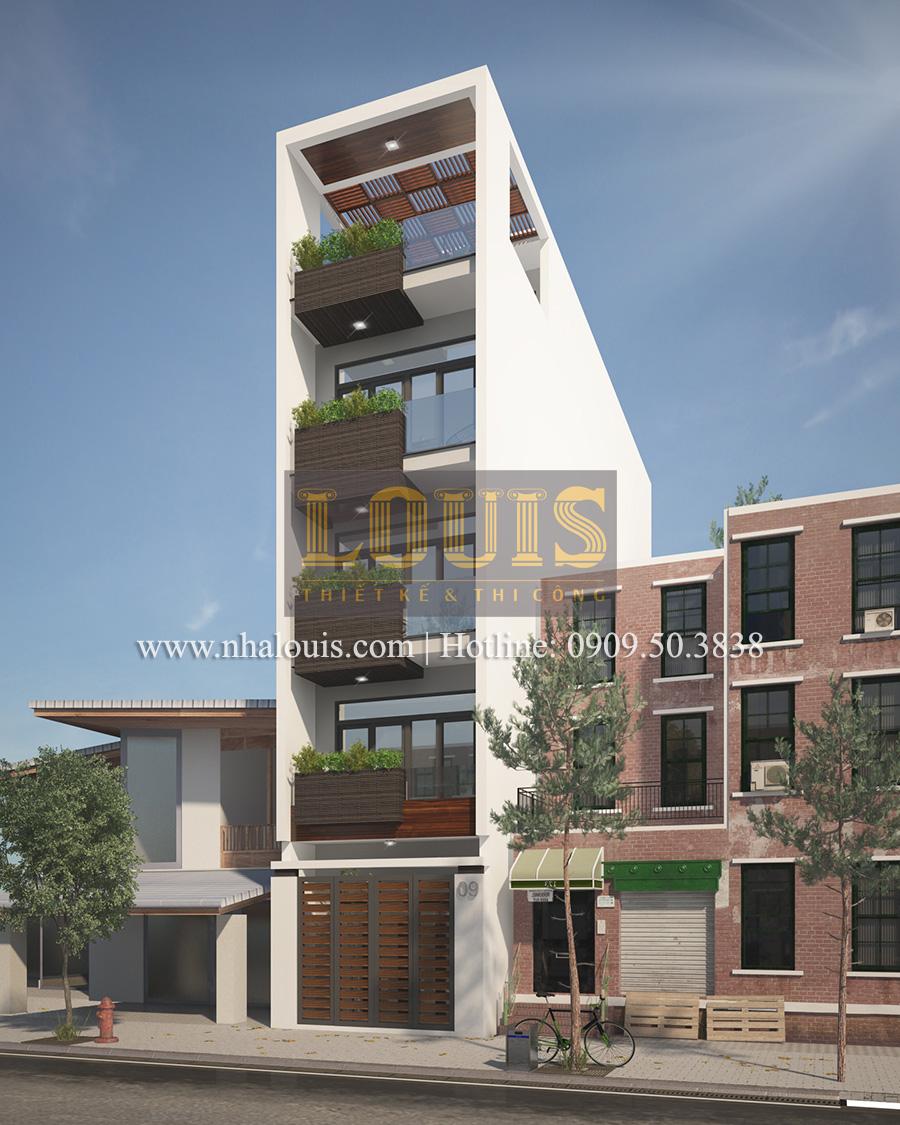 Tư vấn thiết kế nhà phố hiện đại 5 tầng sang chảnh tại quận Tân Phú - 01