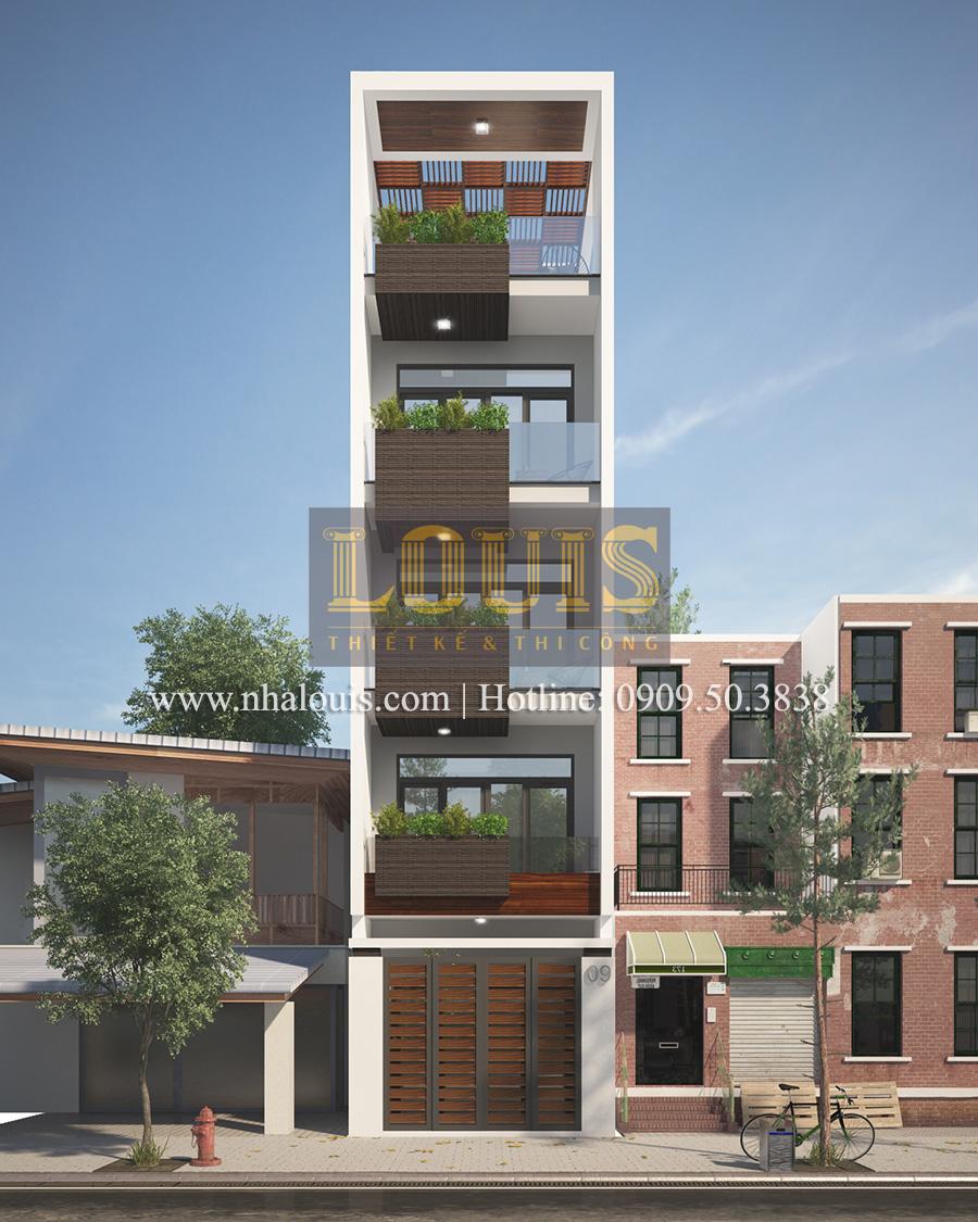 Tư vấn thiết kế nhà phố hiện đại 5 tầng sang chảnh tại quận Tân Phú - 02