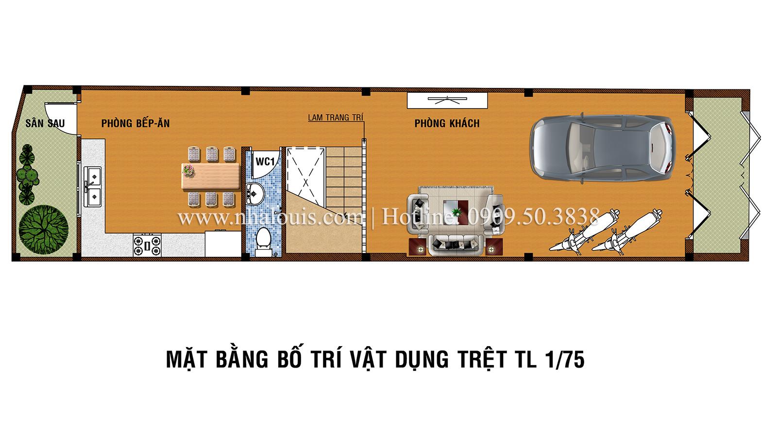 Tư vấn thiết kế nhà phố hiện đại 5 tầng sang chảnh tại quận Tân Phú - 03