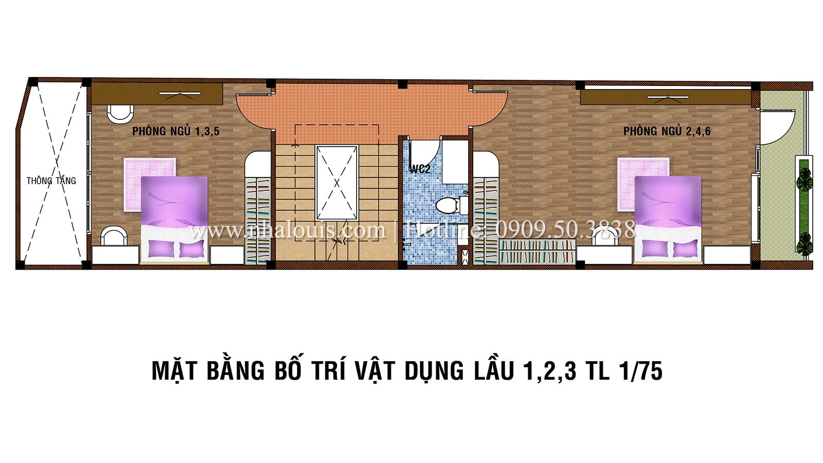 Tư vấn thiết kế nhà phố hiện đại 5 tầng sang chảnh tại quận Tân Phú - 04