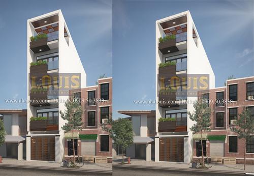 Tư vấn thiết kế nhà phố hiện đại 5 tầng sang chảnh tại quận Tân Phú