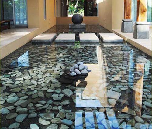 Vẻ đẹp bình yên đến duyên dáng của sỏi trang trí nhà