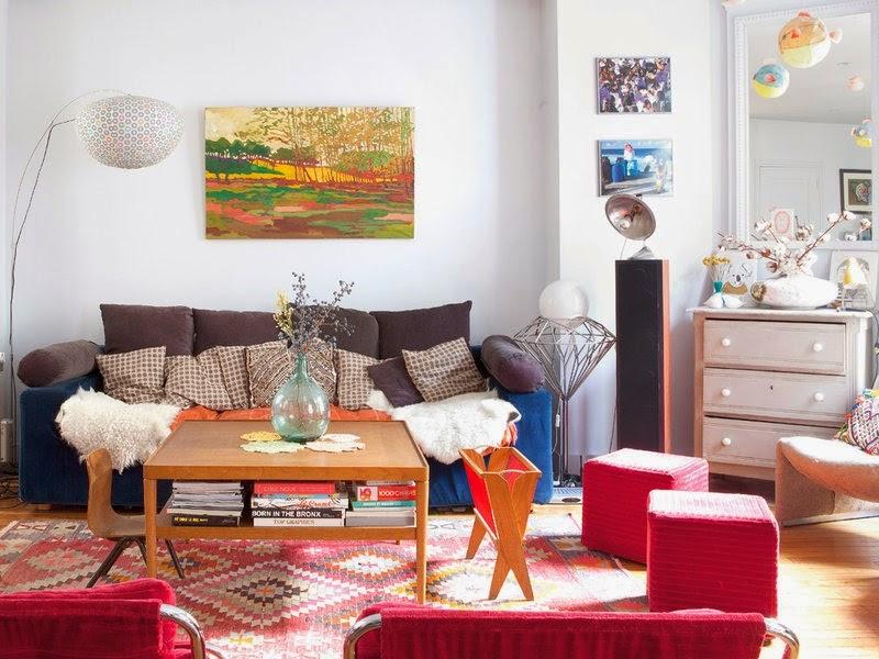 Mẫu thiết kế nội thất nhà ống mang phong cách retro - 04