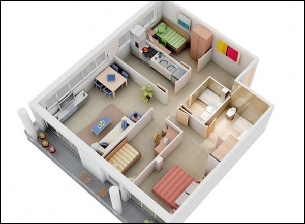 Top 5 thiết kế căn hộ 3 phòng ngủ được yêu thích nhất năm 2018 - 02