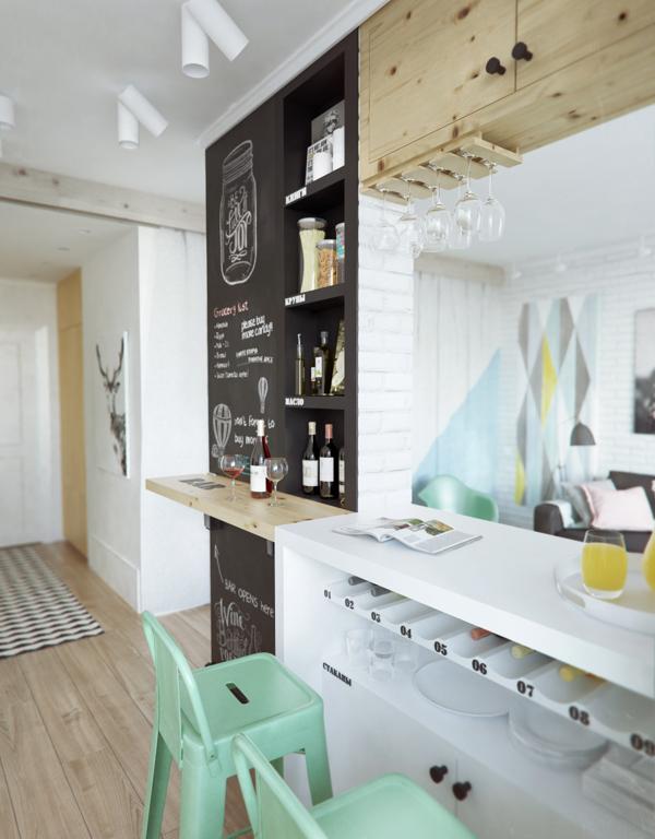 Căn hộ nhỏ 45 mét vuông vẫn đẹp thoáng nhờ lối trang trí trẻ trung