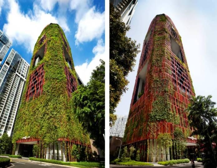 Độc lạ toà cao ốc xanh - Diện tích phủ cây xanh lớn hơn 10 lần khu đất