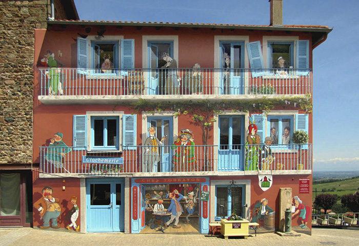 Tham khảo cách làm sống động bức tường nhàm chán bằng tranh vẽ 3D