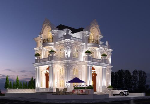 Mẫu thiết kế biệt thự kiểu pháp bề thế và đẳng cấp tại Quận 9
