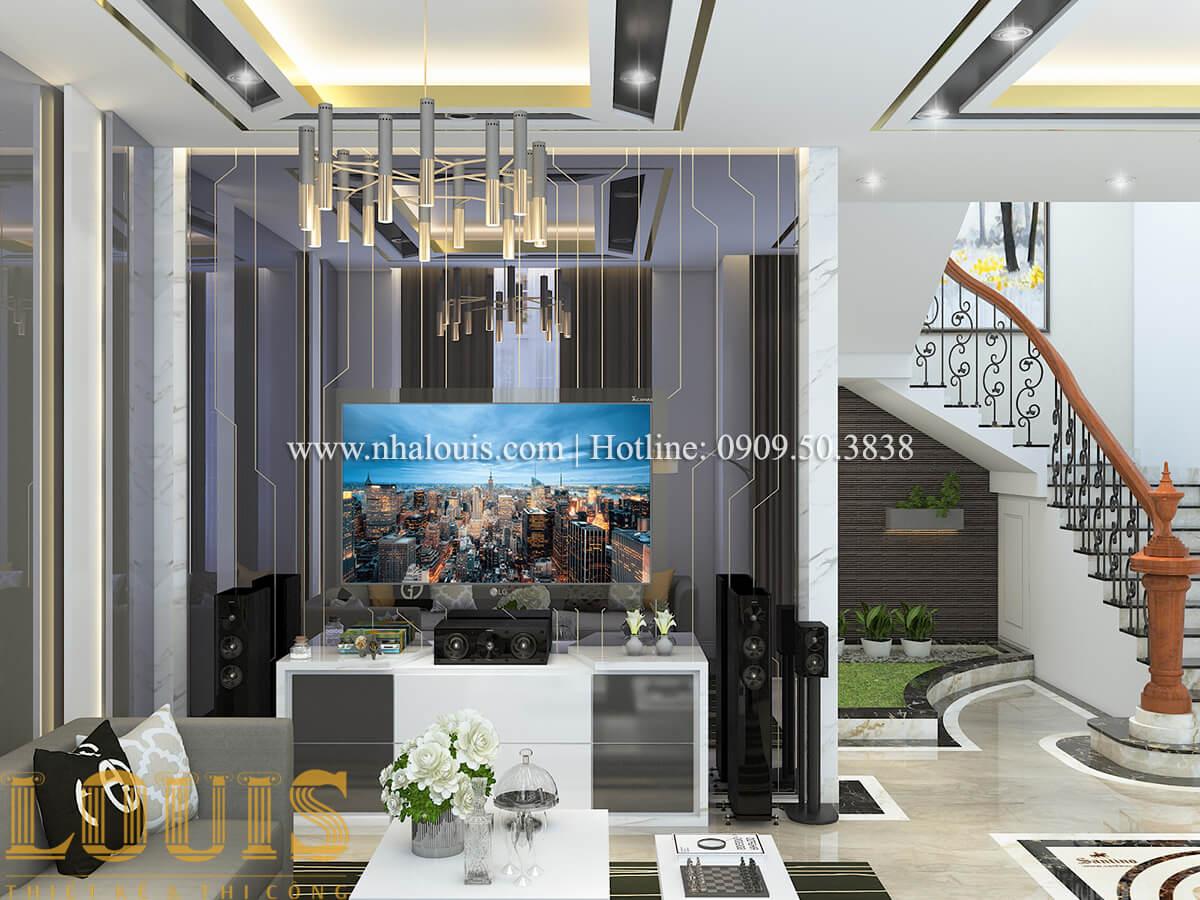 Phòng khách Nội thất biệt thự hiện đại đẹp mê li tại Vũng Tàu - 03