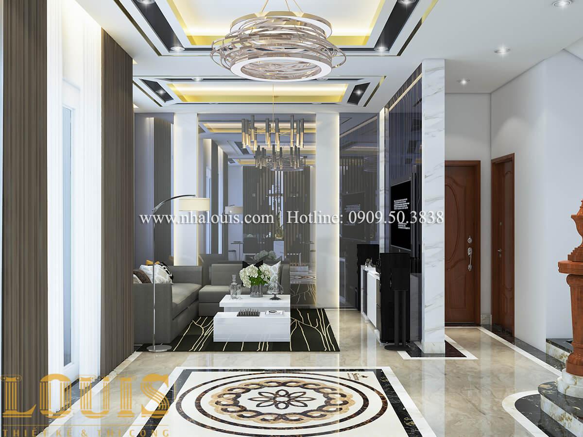 Phòng khách Nội thất biệt thự hiện đại đẹp mê li tại Vũng Tàu - 04