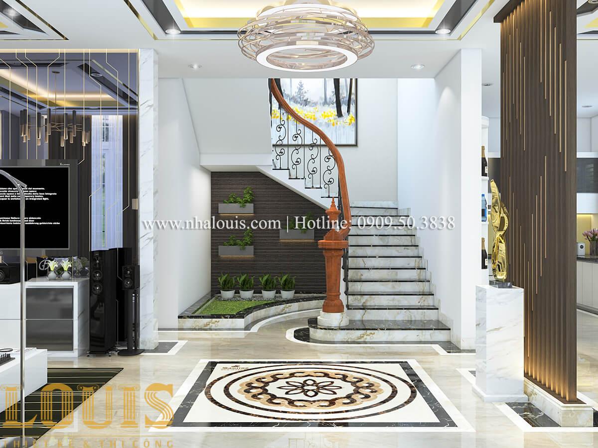 Tiểu cảnh cầu thang Nội thất biệt thự hiện đại đẹp mê li tại Vũng Tàu - 06