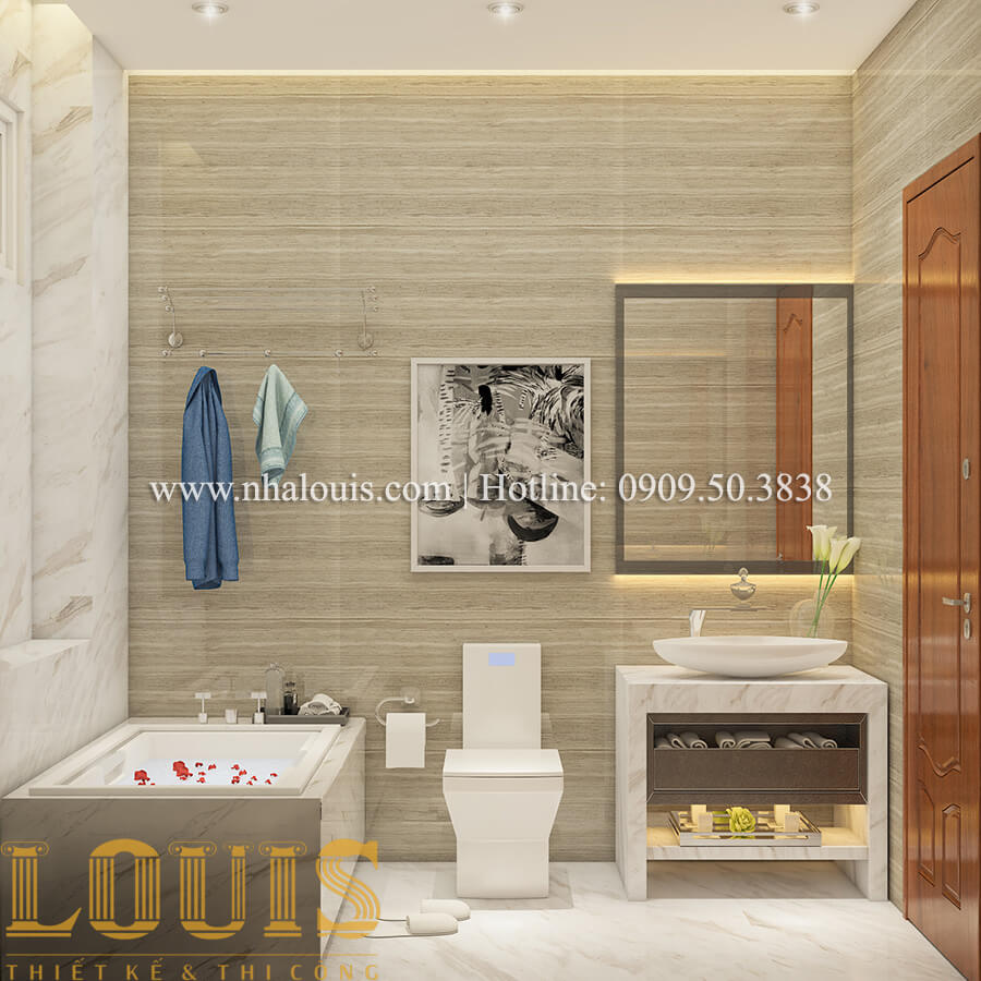 Phòng tắm và WC Nội thất biệt thự hiện đại đẹp mê li tại Vũng Tàu - 12