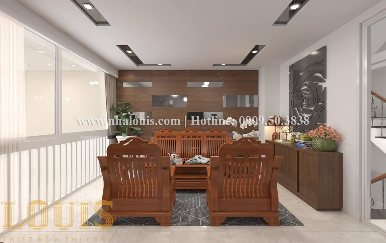 Phòng khách Thiết kế nhà ống có tầng lửng phong cách tân cổ điển tại Quận 6 - 06