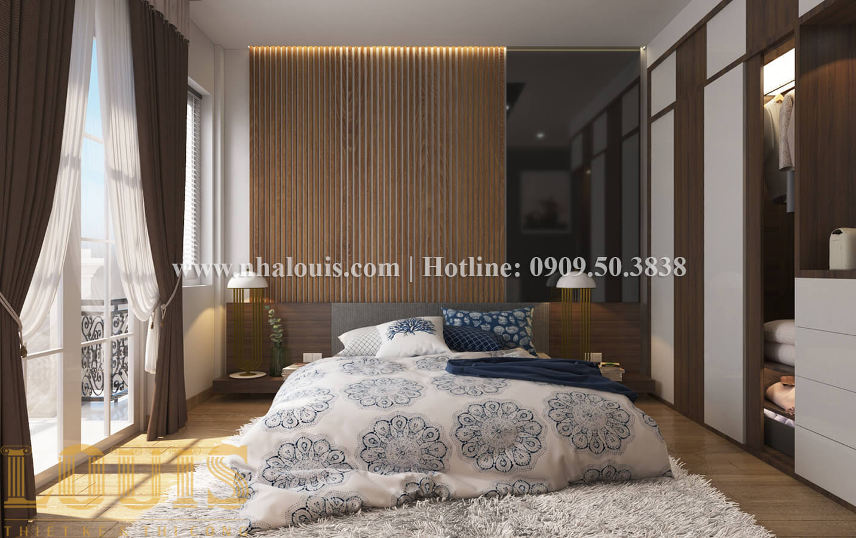 Phòng ngủ Thiết kế nhà ống có tầng lửng phong cách tân cổ điển tại Quận 6 - 13