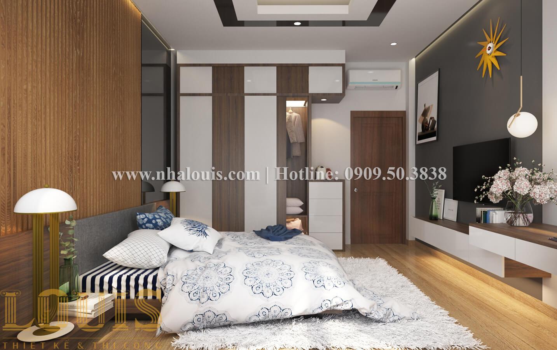 Phòng ngủ Thiết kế nhà ống có tầng lửng phong cách tân cổ điển tại Quận 6 - 15