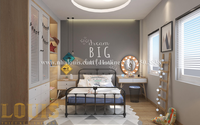 Phòng ngủ Thiết kế nhà ống có tầng lửng phong cách tân cổ điển tại Quận 6 - 16