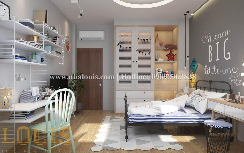 Phòng ngủ Thiết kế nhà ống có tầng lửng phong cách tân cổ điển tại Quận 6 - 17