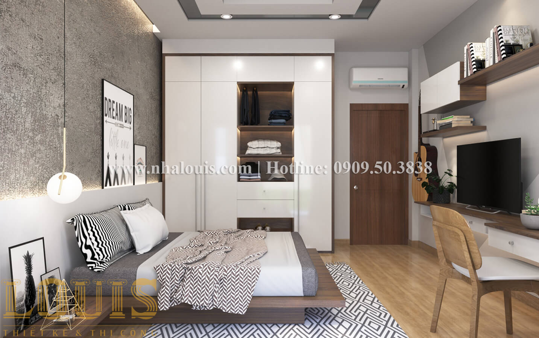 Phòng ngủ Thiết kế nhà ống có tầng lửng phong cách tân cổ điển tại Quận 6 - 21