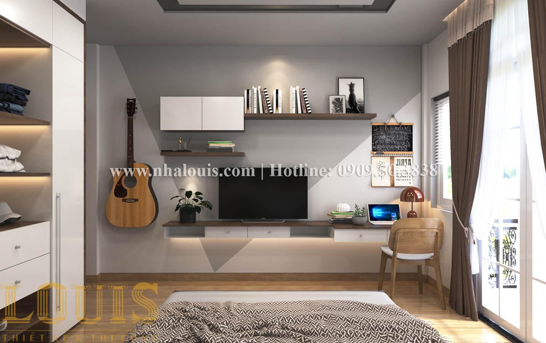 Phòng ngủ Thiết kế nhà ống có tầng lửng phong cách tân cổ điển tại Quận 6 - 22