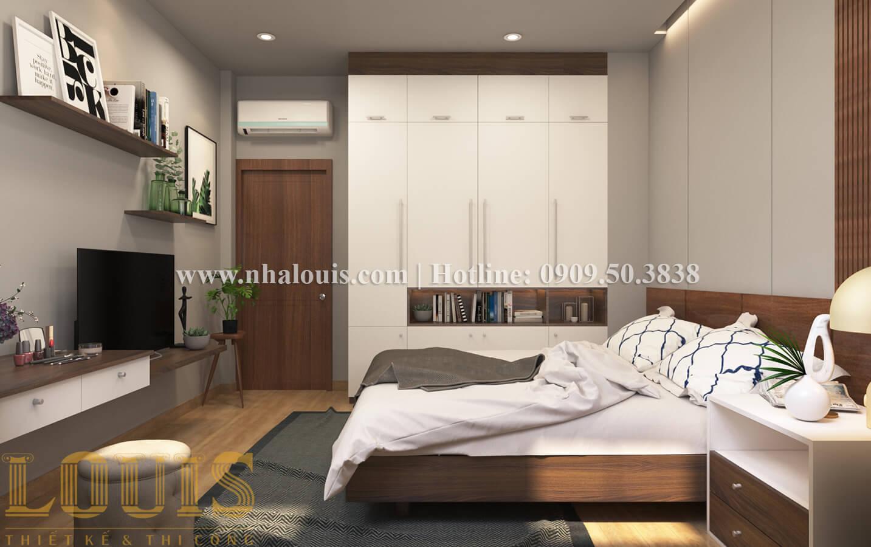 Phòng ngủ Thiết kế nhà ống có tầng lửng phong cách tân cổ điển tại Quận 6 - 25