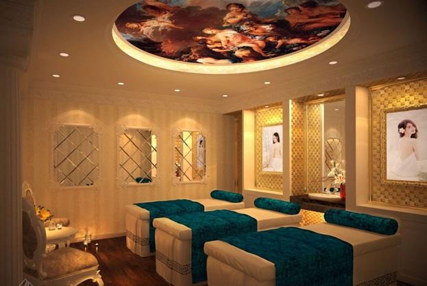 Thiết kế spa biệt thự 3 tầng kiểu pháp tiện nghi cho những người yêu sự thư giãn