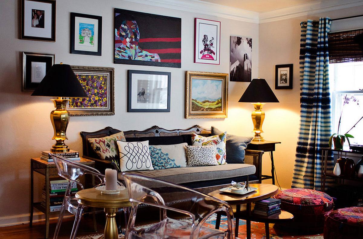 6 kiểu trang trí nội thất phòng khách đẹp theo phong cách Retro độc đáo 03