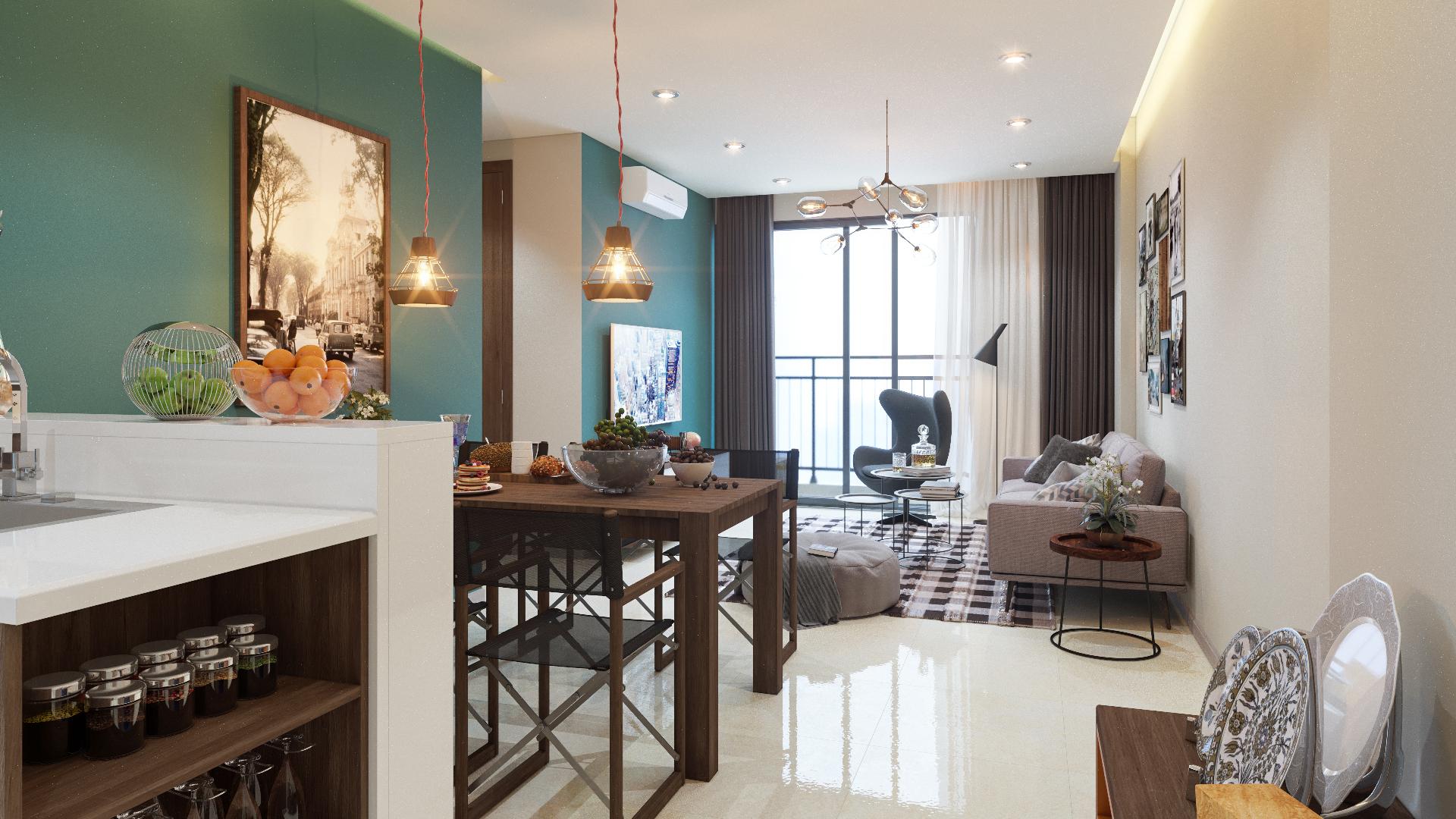 6 kiểu trang trí nội thất phòng khách đẹp theo phong cách Retro độc đáo 04