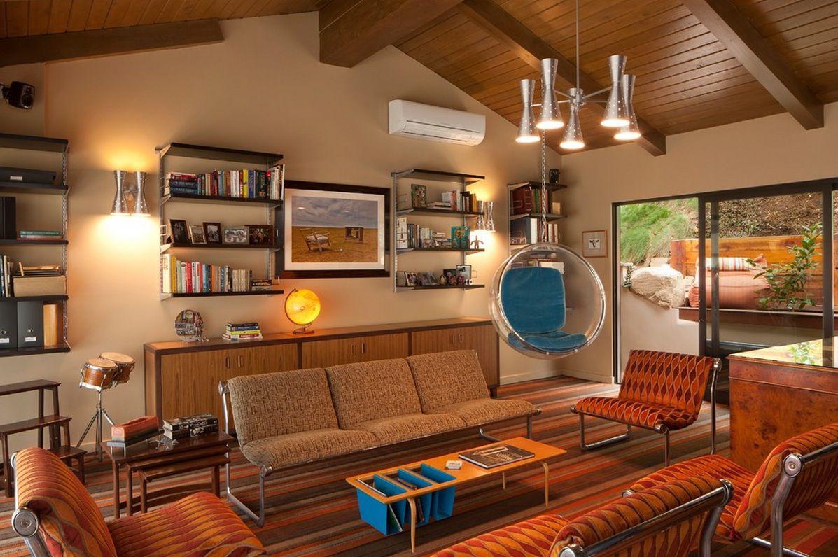 6 kiểu trang trí nội thất phòng khách đẹp theo phong cách Retro độc đáo 05