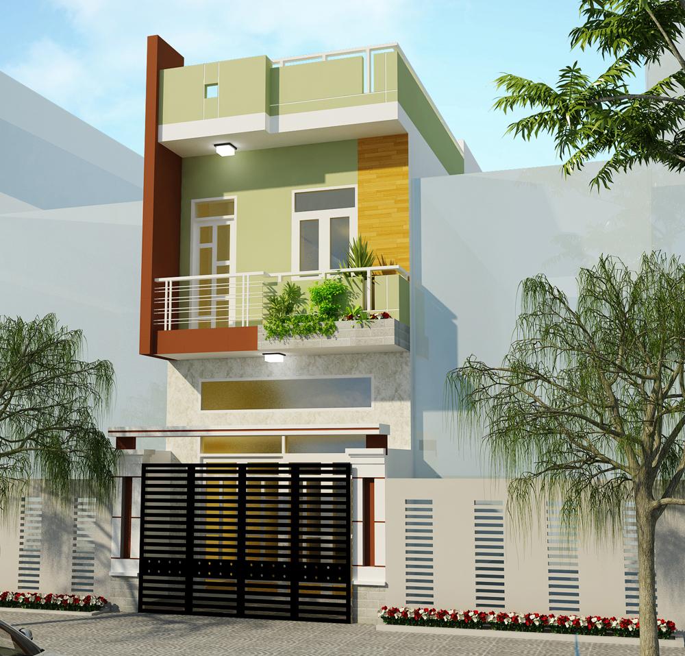 Mặt bằng mẫu nhà 2 tầng này được thiết kế khác hoàn toàn so với mẫu nhà 2 tầng chữ L hay mái Thái