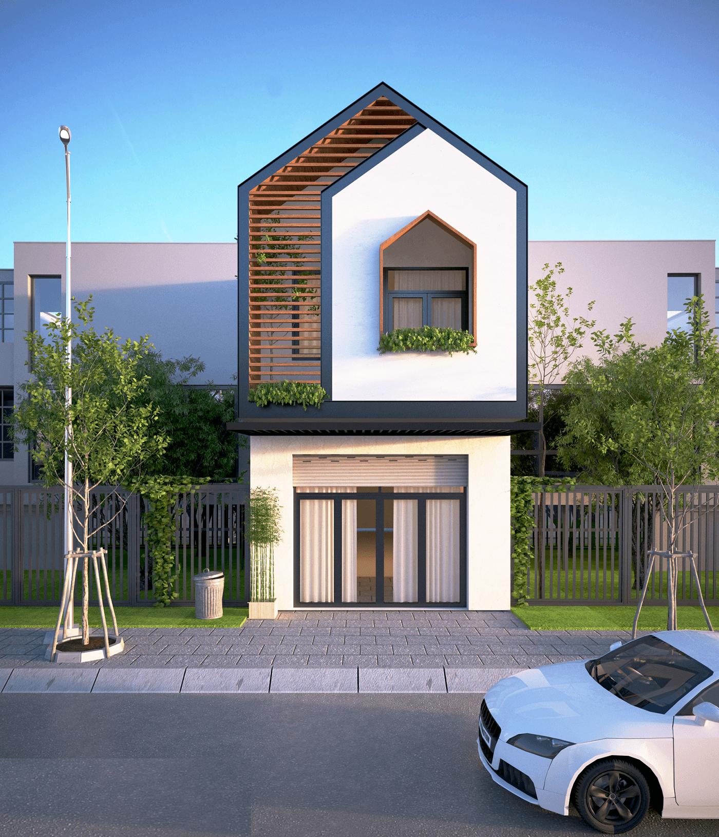 Với mẫu thiết kế này, ngôi nhà của bạn sẽ được nối liền nhau, tạo nên một tổng thể thống nhất