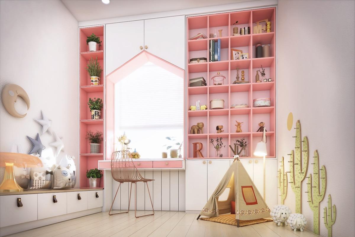 Việc thiết kế không gian nhà đẹp sẽ hỗ trợ sự phát triển trí não toàn diện của trẻ đồng thời kích thích trí tưởng tượng, giúp trẻ luôn khác biệt