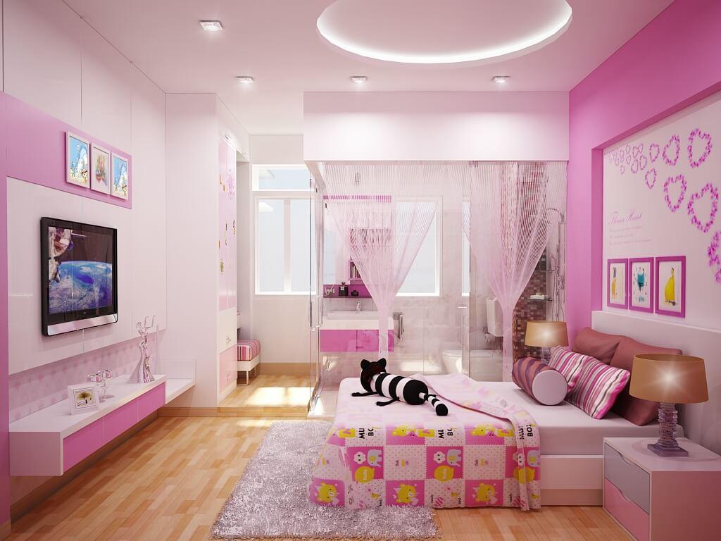 Không riêng gì phòng ngủ của con gái bạn, tất cả các gian phòng khác nếu không tiếp nhận đầy đủ ánh sáng sẽ không khác gì cửa ngục